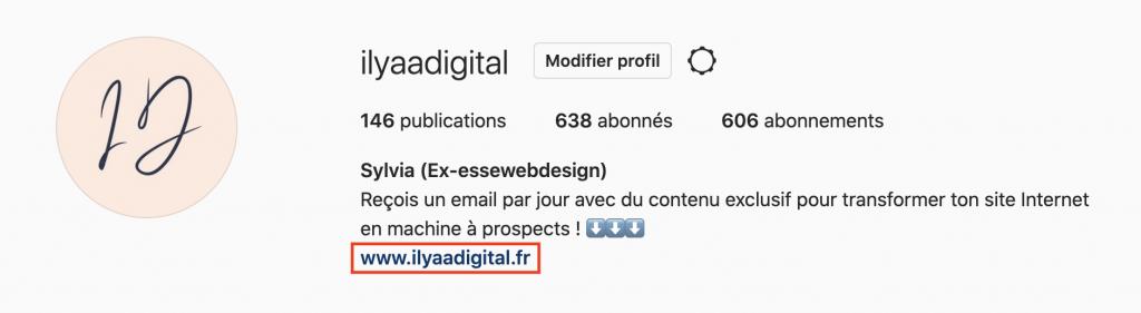 Générer du trafic sur son site Internet grâce à Instagram.